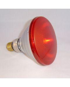 infrared par38-150w  hardglas e27 rood