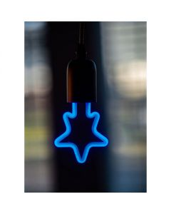 LED neon star blauw