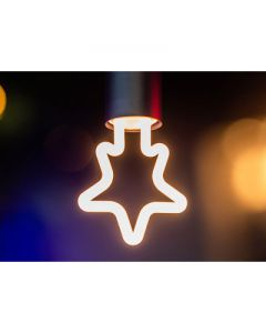 LED neon star wit