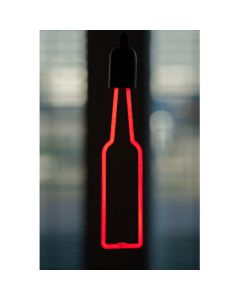 LED neon fles rood