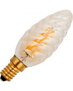 Led Kaars Twisted Gold 2000K.