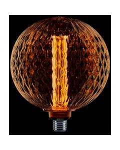 LED kooldraad globe lamp ribbel 200