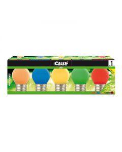 Set van 5 gekleurde lampen Rood + Groen + Blauw + Oranje