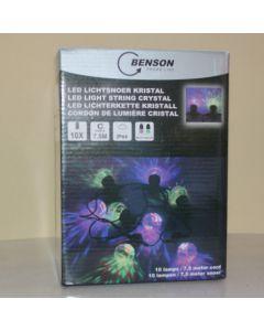 Benson lichtsnoer voor binnen en buiten 10 kristallampen