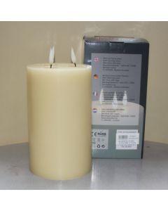 1 SimuFlame LED kaars met 3 vlammen Ivory 15 x 25 cm