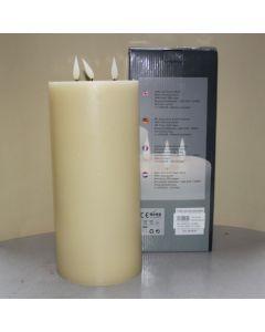 1 SimuFlame LED kaars met 3 vlammen Ivory 15 x 33 cm