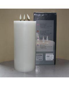 1 SimuFlame LED kaars met 3 vlammen White 15 x 33 cm