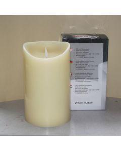 1 SimuFlame LED kaars met 1 vlam Ivory 15 x 25cm