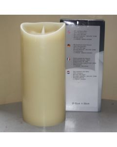 1 SimuFlame LED kaars met 1 vlam Ivory 15 x 33cm
