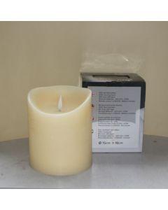 1 SimuFlame LED kaars met 1 vlam Ivory Aged 15 x 18cm