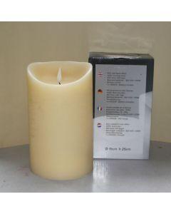 1 SimuFlame LED kaars met 1 vlam Ivory Aged 15 x 25cm