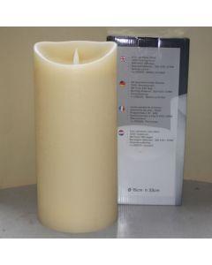 1 SimuFlame LED kaars met 1 vlam Ivory Aged 15 x 33cm