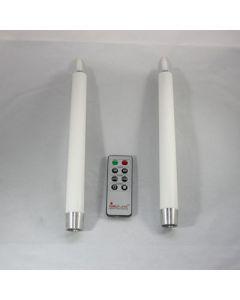 2x LED imitatie kaars op batterijen wit