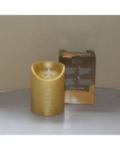Kaars Led 3x AA Gold 9x 12.5cm