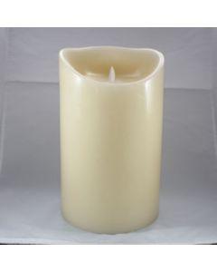 Kaars LED 3xD ivory 15x25cm