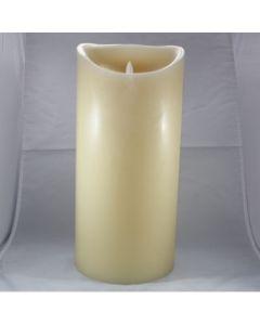 Kaars LED 3xD ivory 15x33cm