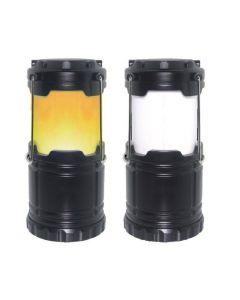 Campinglamp met flame effect