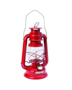 Stormlantaarn op lampenolie rood
