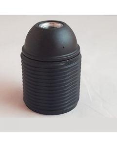 Fitting E27      zwart met buitendraad