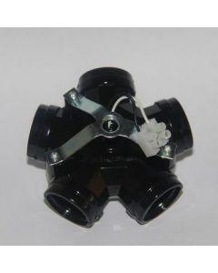 fitting 5-voudig E27 zwart              zwart + m10