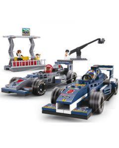 BOUWSTENEN: RACE AUTO'S MET TRIBUNE