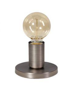 tafellamp base e27   vintage zilver