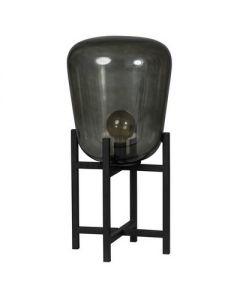 tafellamp =benn=     1xe27 zwart/glas