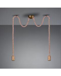Hanglamp rope   2x E27  max 60 Watt