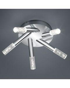 Plafondlamp bolsa Led 5x 3.2 Watt badkamer 3000k
