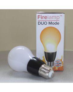 Fire effect lamp Opaal 68 Leds A60 Zwart