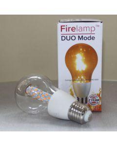 Fire effect lamp Helder 68 Leds A60 Wit