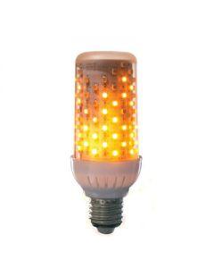 Fire effect lamp helder 96LEDs wit