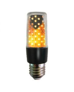 Fire effect lamp helder 64LEDs zwart IP44